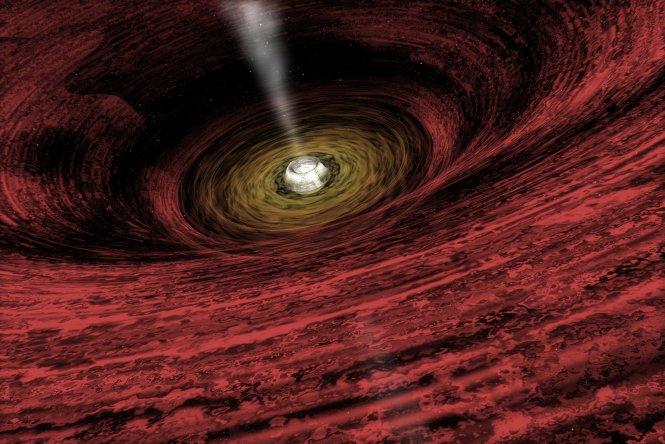 Wzrastająca supermasywna czarna dziura