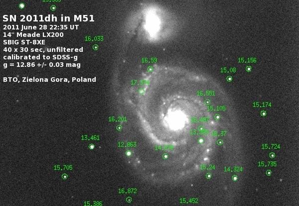 SN 2011dh - 28 Czerwiec 2011