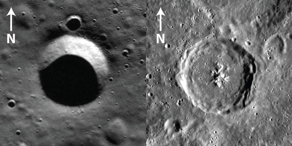 Zdjęcie kraterów na Merkurym wykonane z orbity przez MDIS.