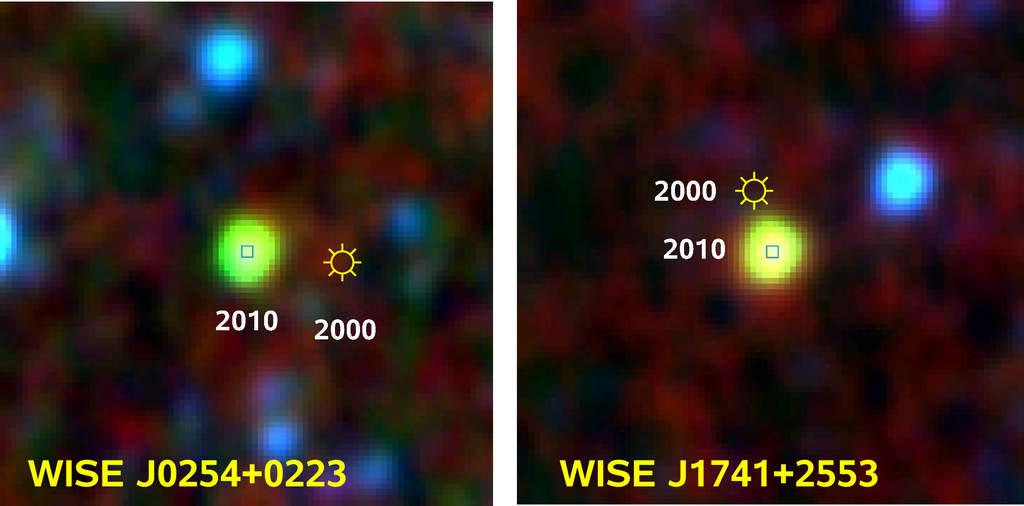 Brązowe karły WISE J0254+0223 i WISE J1741+2553