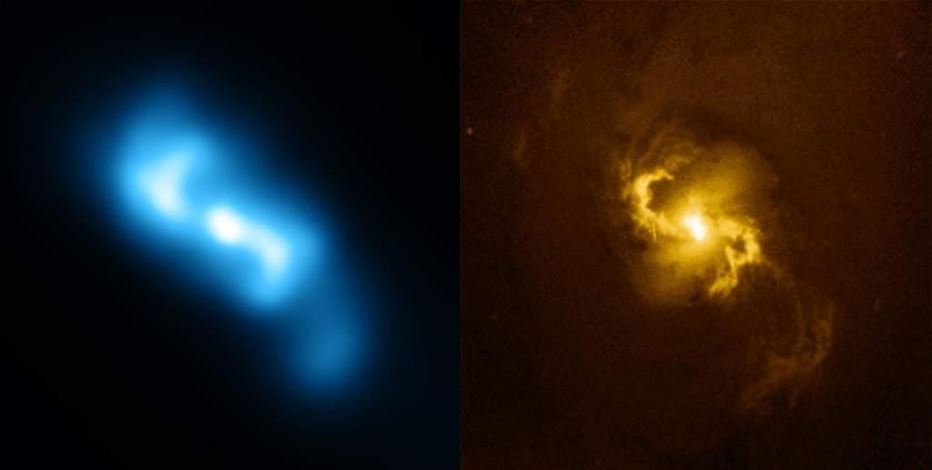 NGC 3393 - rozdzielone zdjęcia