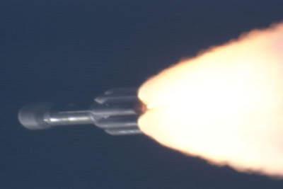 Delta II wynosząca GRAILa naorbitę.