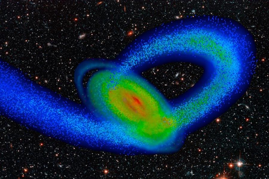 Komputerowy model Drogi Mlecznej i jej mniejszego towarzysza