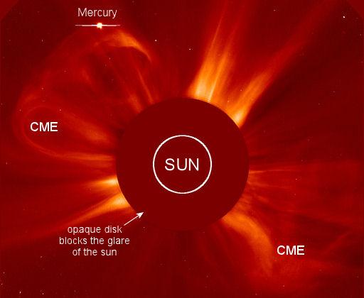 Merkury targany wiatrem słonecznym