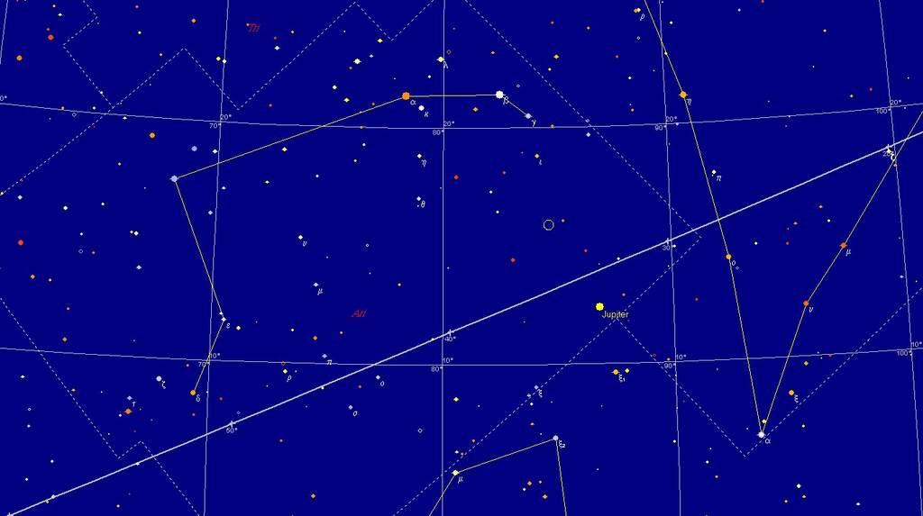 Księżyc i Jowisz, 9 listopada 2011, 17:00