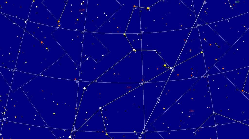 Mars i Regulus, 11 listopada 2011, 3:00