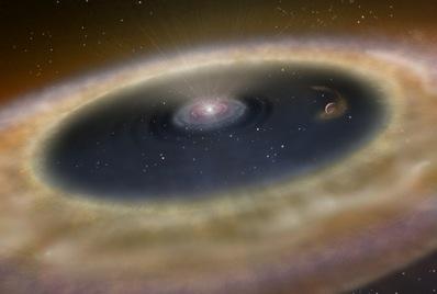 dysk wokół gwiazdy LkCa 15