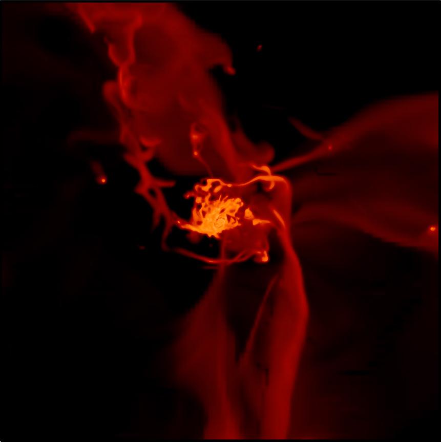 Symulacja akrecji galaktycznej