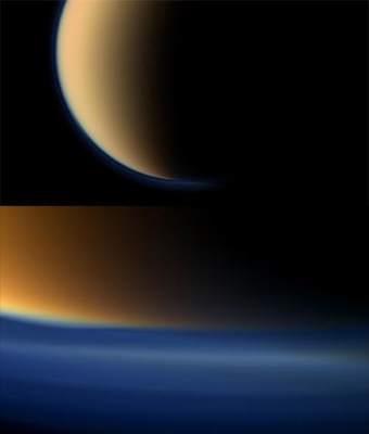 Niebiesko-pomarańczowa atmosfera Tytana