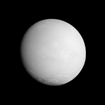 Enceladus - zdjęcie z sondy Cassini