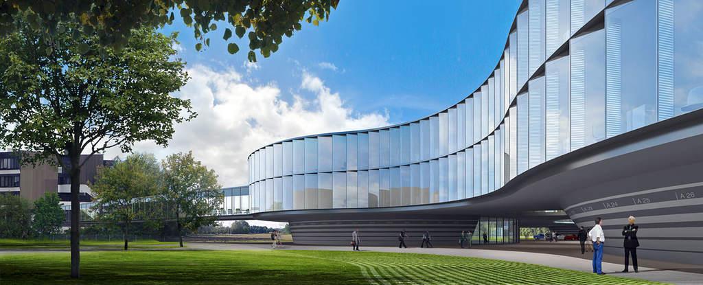 Wizualizacja nowego rozszerzenia siedziby ESO