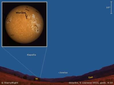 Animacja przejścia Wenus na tle Słońca 6 czerwca 2012 r.