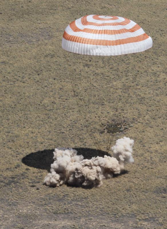Sojuz TMA-03M - lądowanie