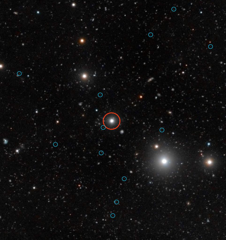 Ciemne galaktyki wokół kwazara HE0109-3518