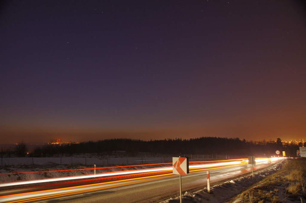 Kometa Pan-STARRS, zdjęcie Andrzeja Karonia (I)