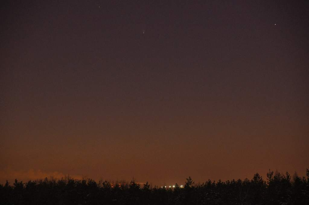 Kometa Pan-STARRS, zdjęcie Andrzeja Karonia (IV)