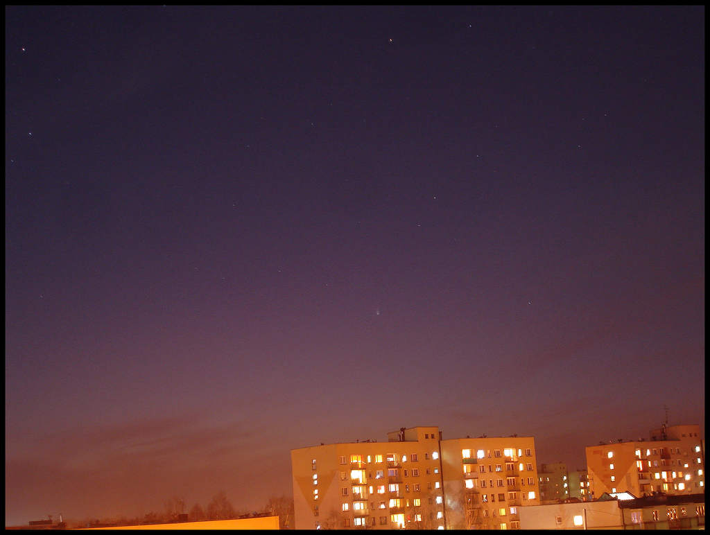 Kometa Pan-STARRS nad Pszczyną