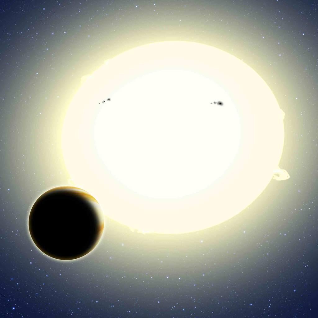 Grafika przedstawiająca egzoplanetę Kepler-76b.