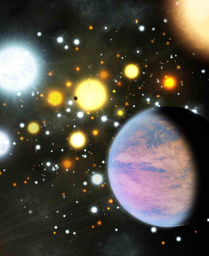 artystyczna wizja egzoplanet Kepler-66b i Kepler-67b
