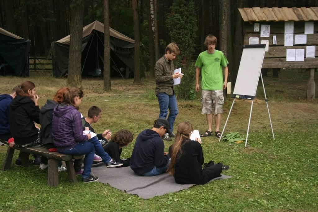 obóz dla młodszych 2013 - zajęcia