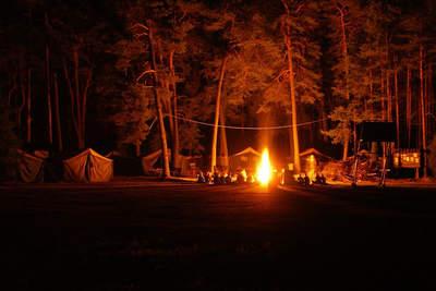 obóz dla młodszych 2013 - ognisko