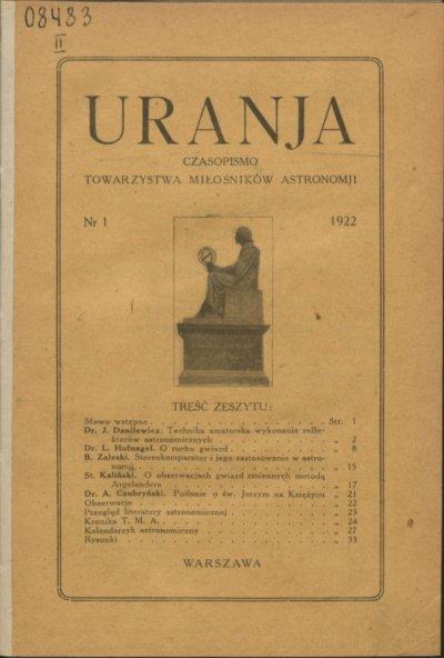 Uranja nr 1/1922