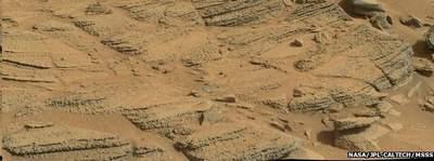 Skały na Marsie dowodzące istnienia tam wody