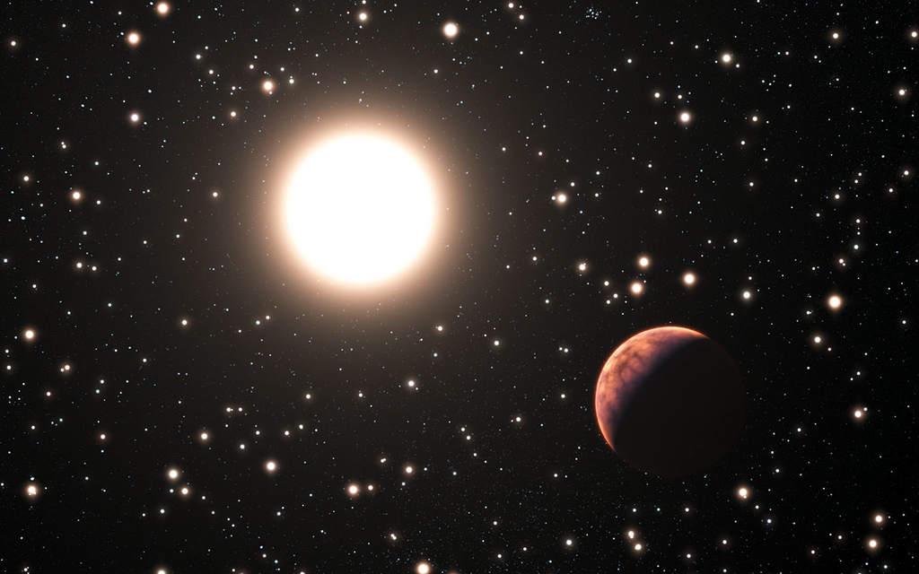 Wizja artystyczna egzoplanety w gromadzie M67