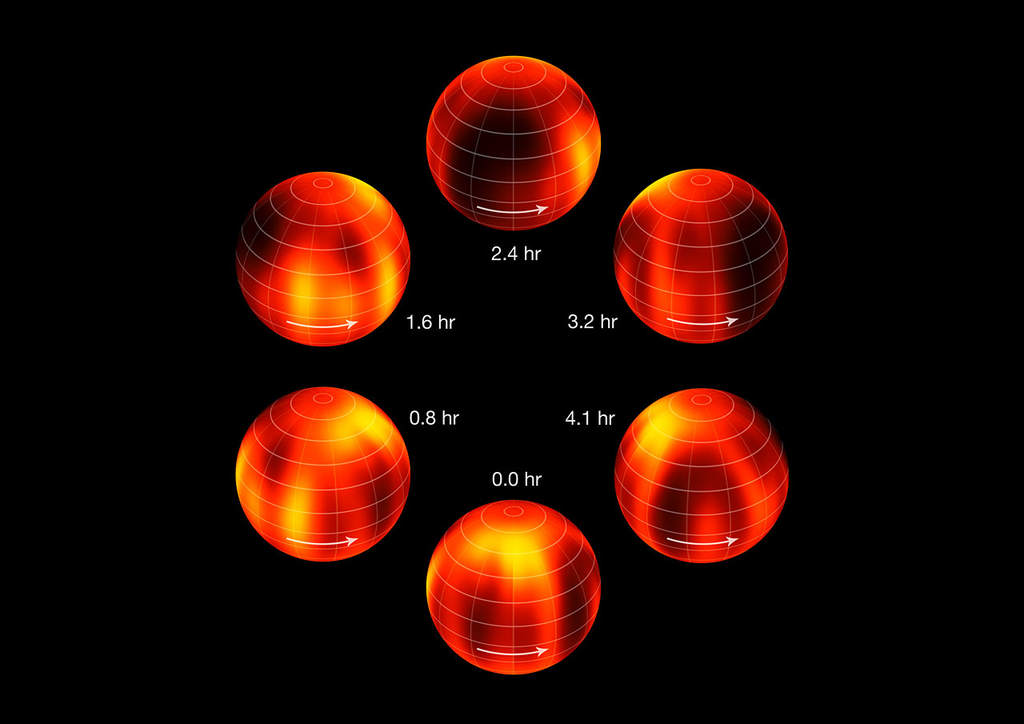 Różnice w jasności brązowego karła Luhman 16B