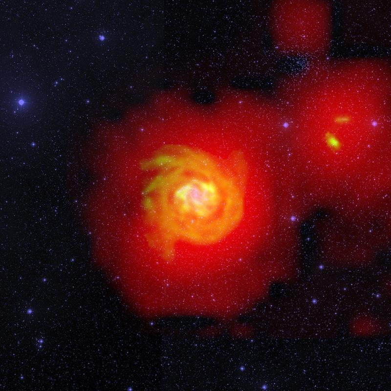 """""""Rzeka"""" wodoru wokół galaktyki NGC 6946"""