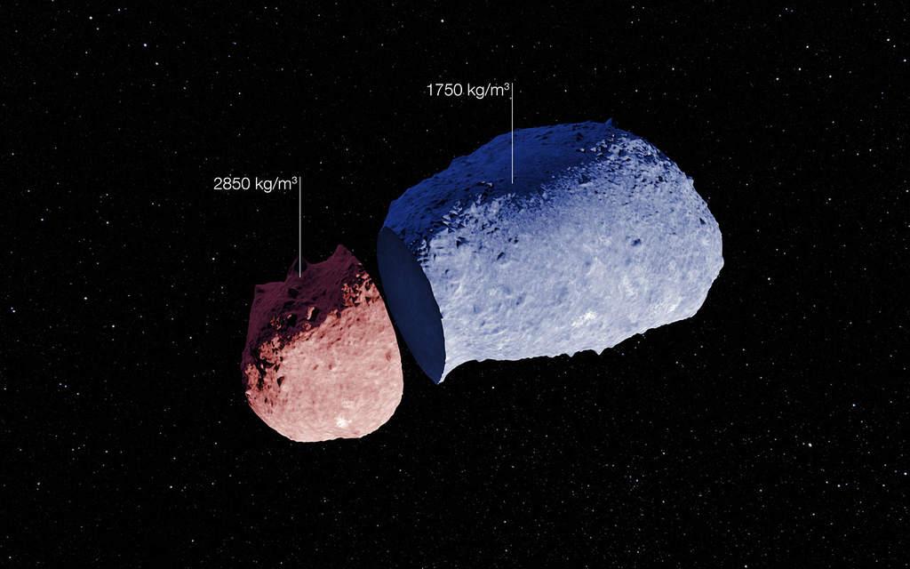 Dwie części planetoidy Itokawa