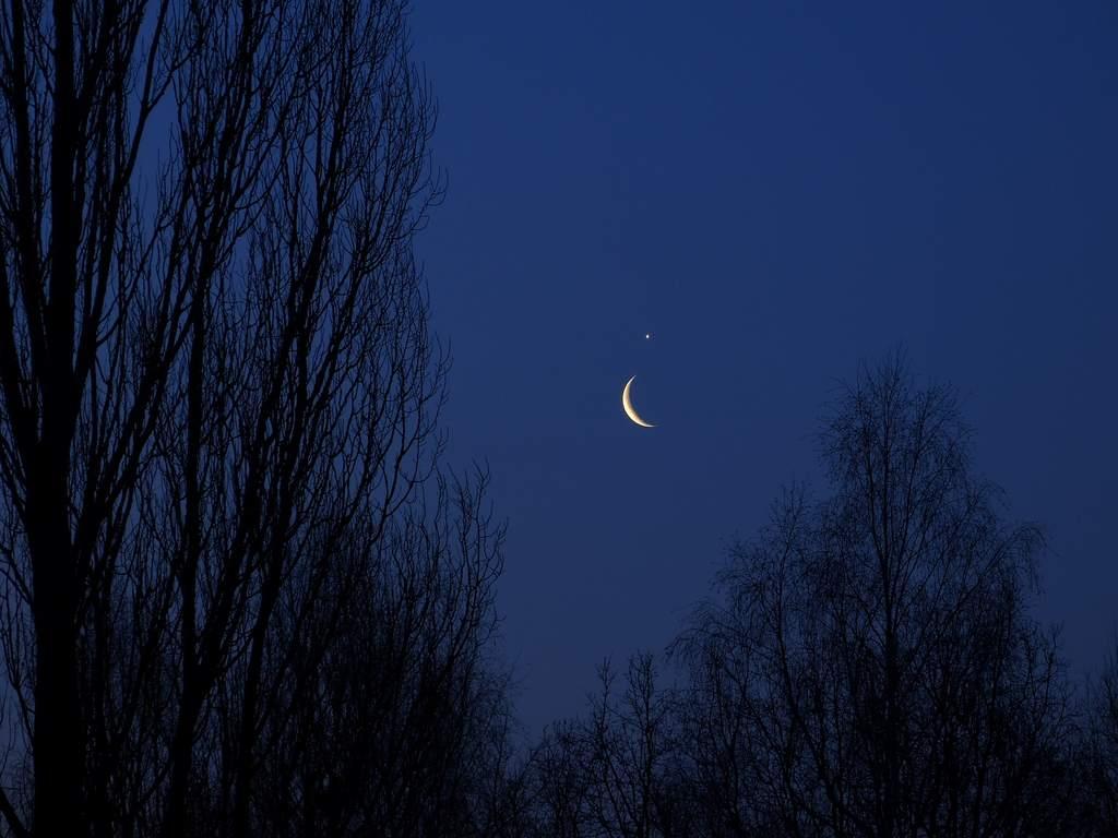 26 lutego 2014, złączenie Księżyca zWenus (III)
