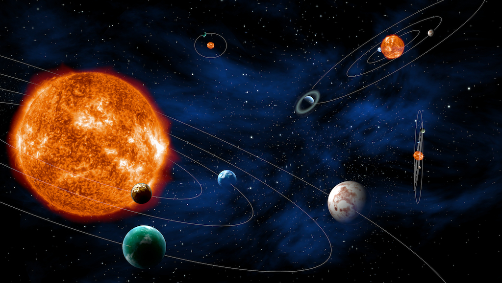 Pozasłoneczne układy planetarne – wizja artystyczna