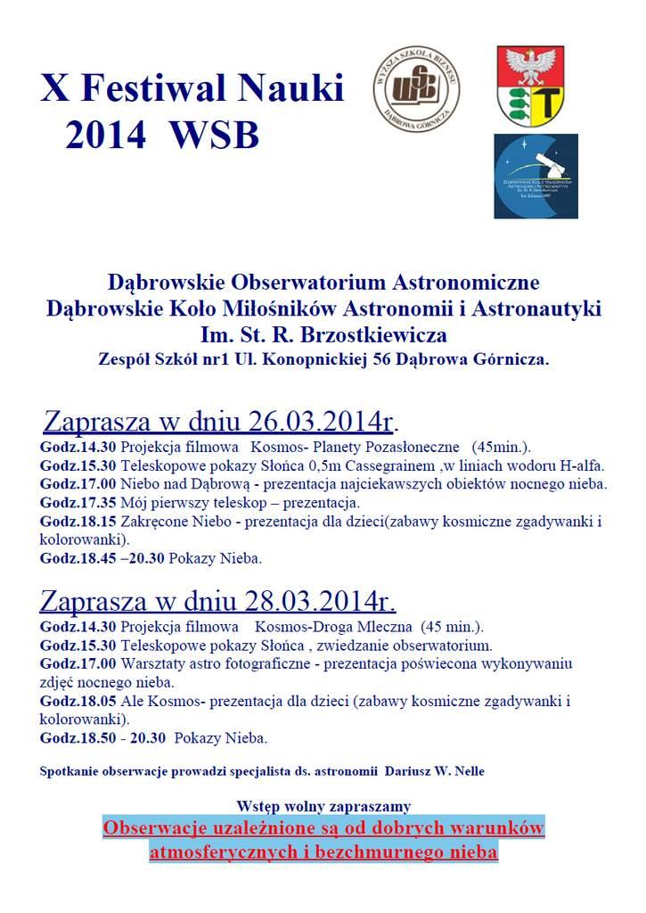 Program Zajęć Astronomicznycznych