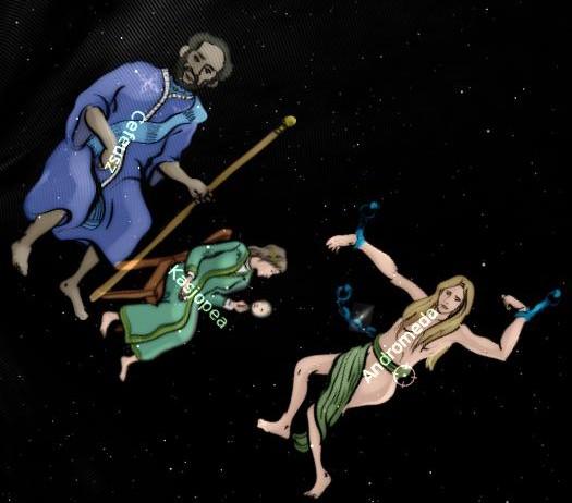 Cefeusz, Kasjopeja i Andromeda