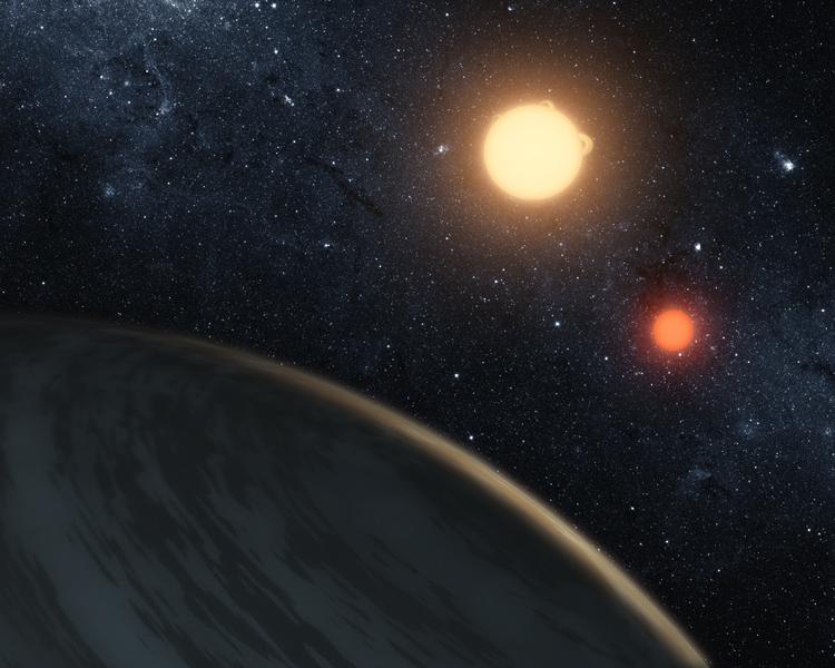 Planeta okołopodwójna – wizja artystyczna