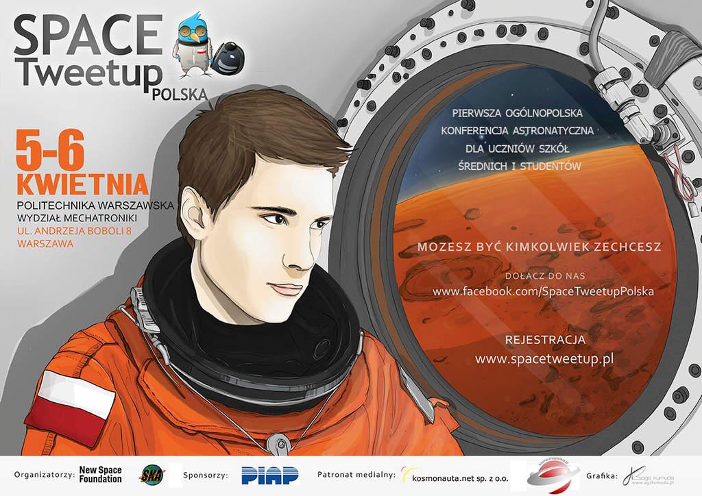 Space Tweetup Polska - plakat