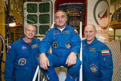 Członkowie 39. Ekspedycji na ISS, przygotowani do startu