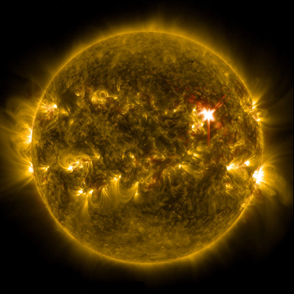 Rozbłysk słoneczny klasy X1 z 29 marca 2014 rok