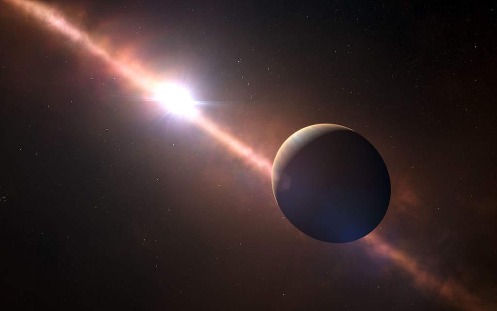 Planeta Beta Pictoris b – wizja artystyczna