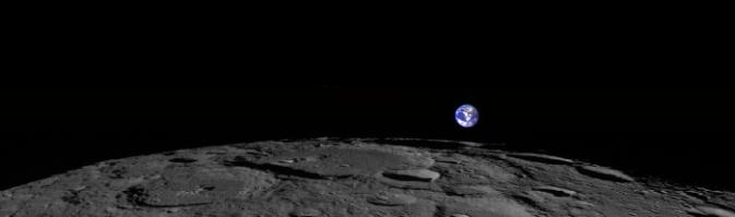 Zdjęcie Księżyca i Ziemi wykonane przez Lunar Reconnaissance Orbiter 2 lutego 2014 roku