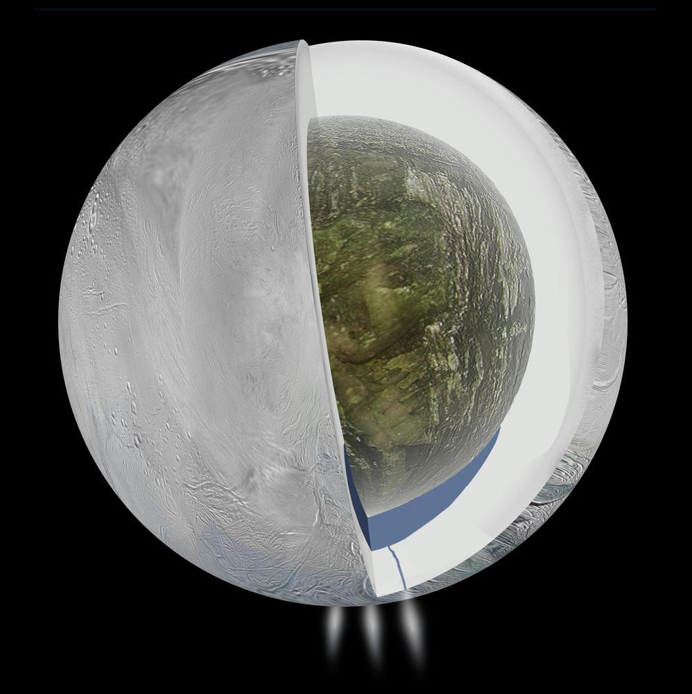Ocean pod powierzchnią Enceladusa
