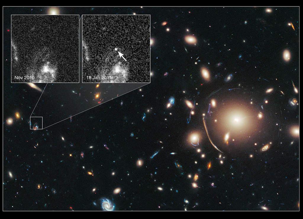 Gromada galaktyk Abell 383 i supernowa Tiberius