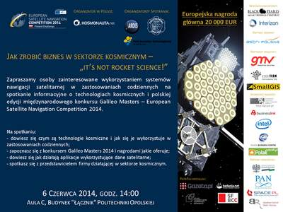 Plakat II Opolskich Spotkań Astronautycznych