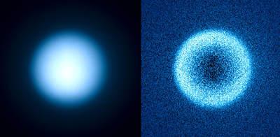 Tytan w świetle widzialnym i widziany przez polarymetry