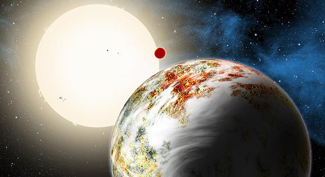 Wizja artystyczna układu Kepler-10