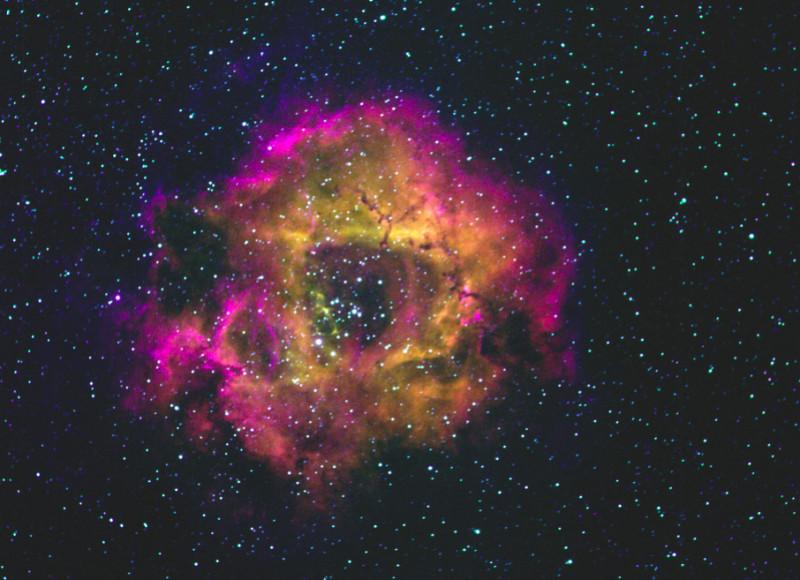 Mgławica Rozeta, miejsce narodzin gwiazd w konstelacji Jednorożca