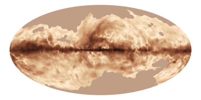 Mapa pola magnetycznego Drogi Mlecznej