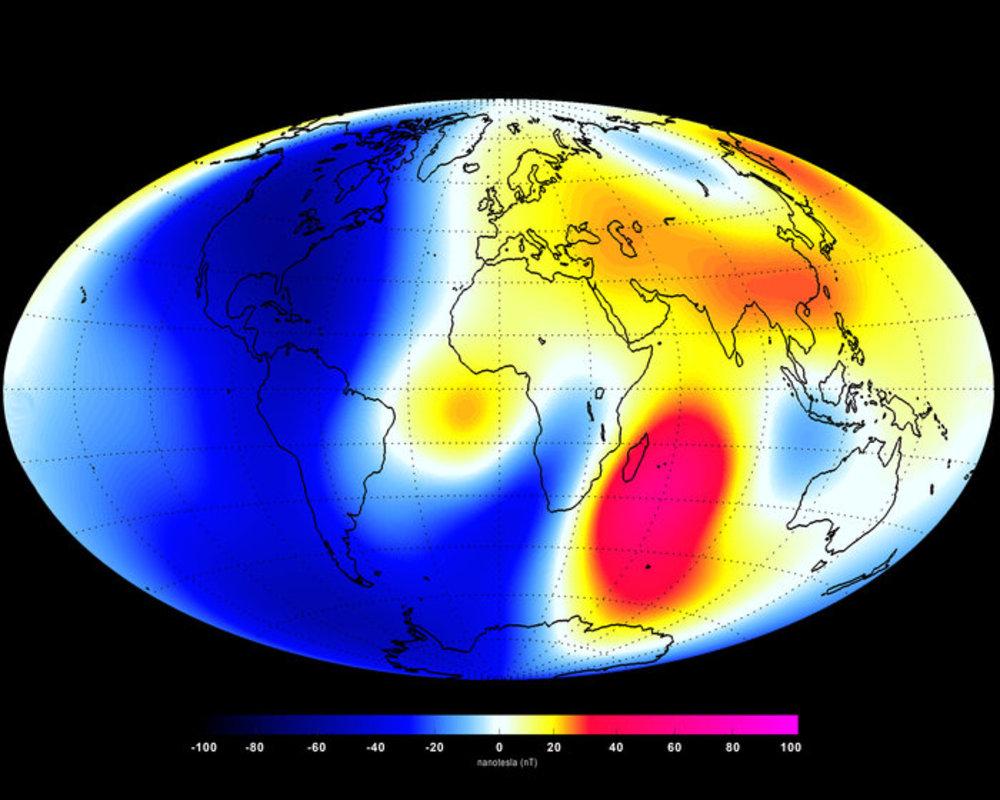 Zmiany w polu magnetycznym Ziemi