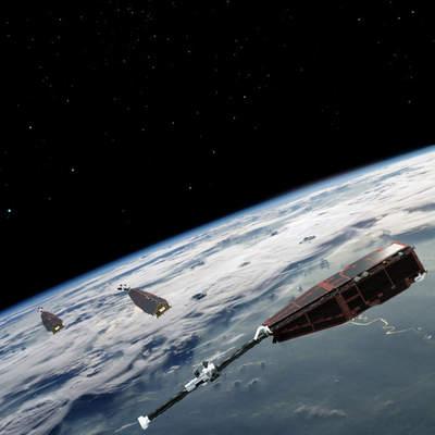 Satelity misji Swarm – wizja artystyczna